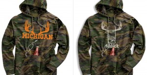 Buy Awesome Michigan Antler Beer Hoodies